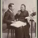 Frans Lejon undervisas av Anna Heikel